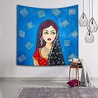 インドネシアカラフルな抽象的な錯覚タペストリー3 Dビジュアル壁掛けタペストリーリビングルームの寝室の装飾 SHWSM (Color : E, Size : 203x150)