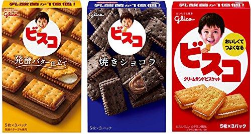 江崎グリコ ビスコ 発酵バター仕立て+焼きショコラ+ビスコ セット