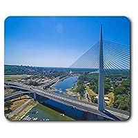 快適なマウスマット - エイダ橋ベオグラードセルビア23.5 X 19.6センチメートル(9.3 X 7.7インチ)コンピュータ&ノートパソコン、オフィス、ギフト、ノンスリップベース用 - RM21104