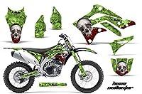 Kawasaki kxf4502012–2015MXダートバイクグラフィックキットステッカーデカールkx450Fボーングリーン