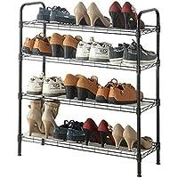 メタル4層靴ラック防塵シンプルな靴のキャビネット保管ラックラック(製品は靴ラックのみを含む)