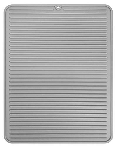 InterDesign 水切り マット シリコン ドライングマット キッチン Lサイズ グレー 63783EJ