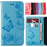 Yiizy Huawei P20 Lite ケース 手帳型 バタフライ Style Premium Leather Wallet Flip Phone Case Cover for Huawei Nova 3e with Kickstand Card Sl