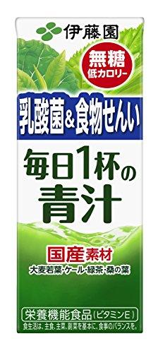 伊藤園 毎日1杯の青汁 無糖タイプ (紙パック) 200ml×24本
