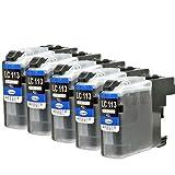 互換インク(LC113BK5本セット) LC113