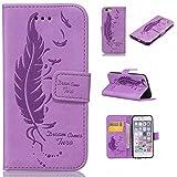 iPhone 6 / iPhone 6s 手帳型 ケース Zeebox 高品質 落下防止 保護カバー 財布型ケース カード収納ホルダー マグネット式 Apple iPhone6 / iPhone6s 対応 ケース (紫色 #5)