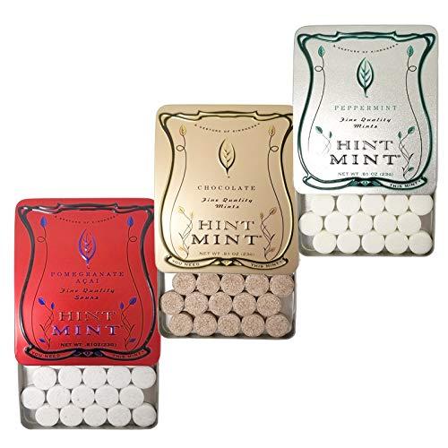 ヒントミント クラシックラベル 3種3個セット (ザクロ&アサイ ペパーミント チョコレートミント 3種×各23g×1個)