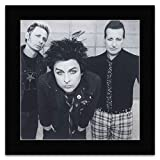 Green Day - Black & White Portrait Mini Poster - 30x30cm