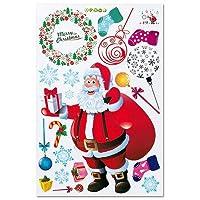 ウォールステッカー(サンタ)|クリスマス(Xmas)窓装飾用