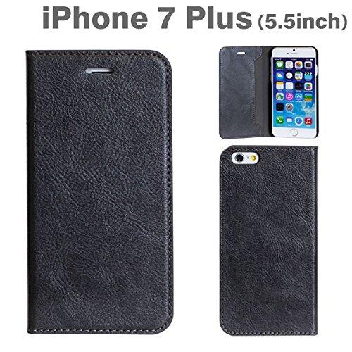 iPhone7 Plus ケース 手帳型 カバー CERTA / チャコールブラック