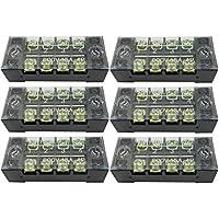 オーディオファン ターミナルブロック 600V 15A 4ポジションデュアル行カバーバリアスクリュー