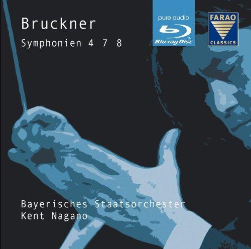 ブルックナー : 交響曲 第4番 第7番 第8番 (Bruckner : Symphonien 4 7 8 / Kent Nagano , Bayerisches Staatsorchester) [Blu-ray Disc Audio] [輸入盤・日本語解説付]