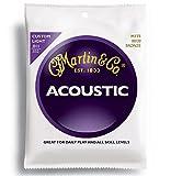 Martin マーチン アコースティックギター弦 80/20 Bronze M-175 .011-.052 カスタムライト 【国内正規品】