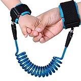 Aosnow 幼児手つなぎ補助帯 迷子防止紐 子供手繋ぎ引き縄 快適 外出用 150cm伸ばせ (ブルー)