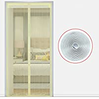 完全なフレーム velcro 夏磁気網戸,蚊スクリーン ドア メッシュ寝室リビング ルーム網戸ホーム スナップ シャット ダウン自動的に-J 120x200cm(47x79inch)