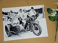 1.特大写真「大脱走」マックイーン、コバーン、サイドカーで遊ぶ