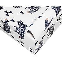 クリブマットレスシート ユニセックス フィット ポータブル 女の子 幼児 男の子用 綿100% ホワイト Crib Sheet ホワイト 43224-14181