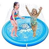 噴水マット プレイマット 水遊び キッズ おもちゃ 芝生遊び 親子遊び プールマット アウトドア 噴水おもちゃ pvc 家族用 夏の日 家庭用   170cm