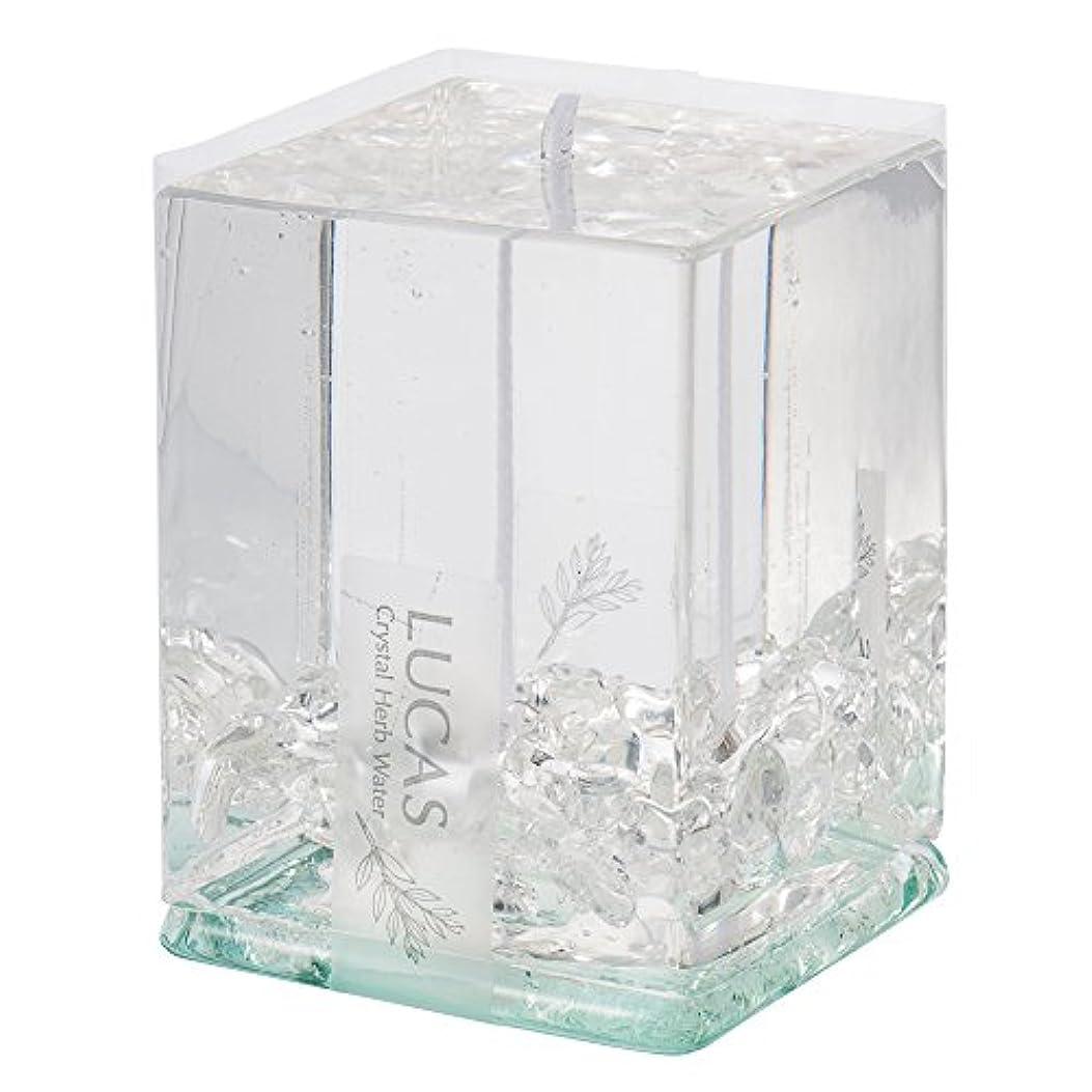 限り望む石鹸ホワイトセージ 浄化 キャンドル LUCAS ルカス 【クリスタル(水晶)】 (ホワイトセージの香り) ~浄化?お守り~ 【瞑想?ヨガ?マインドフルネス?浄化】