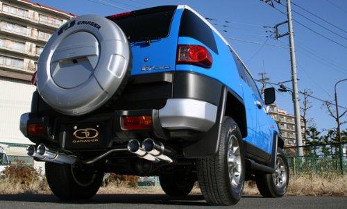 【ガナドール 燃費向上マフラー P.B.S】 FJクルーザー 4.0 国内右ハンドル仕様 CBA-GSJ15W (H22/12~) GVE-017PO サークル ポリッシュ 新規制/車検対応