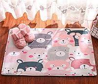 Infabe ラグ カーペット 洗える ラグマット 滑り止め ホットカーペット対応 ウォッシャブル 床暖房 客間 ベッドルーム フランネル