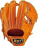ZETT(ゼット) 野球 硬式 グラブ (グローブ) プロステイタス セカンド ショート 右投用 ブラック×オークブラウン(1936) BPROG34
