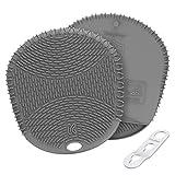 KozyGear シリコン 耐熱ミトン 耐熱手袋 鍋つかみ 耐熱温度228°C 滑り止め 柔軟な 防水(灰)[Z-4]