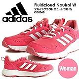 アディダススニーカー adidas アディダス スニーカー レディース ランニング シューズ FLUIDCLOUD NEUTRAL W フルイドクラウド ニュートラル ピンク ホワイト