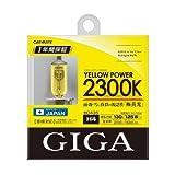 カーメイト 車用 ハロゲン ヘッドライト GIGA イエローパワー H4 2300K 2100/1500lm BD435