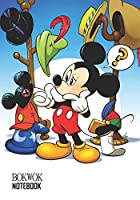 Notebook: Mickey Mouse Medium College Ruled Notebook 129 pages Lined 7 x 10 in (17.78 x 25.4 cm)