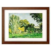 ポール・セザンヌ Paul Cézanne 「Trees At Jas De Bouffan.」 額装アート作品