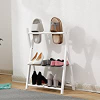 靴のラックソリッドウッドシンプルな家庭の戸口ストレージスリッパフレーム (色 : 2)