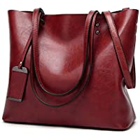 Magibag Women Vintage Leather Handle Satchel Handbags Shoulder Bag