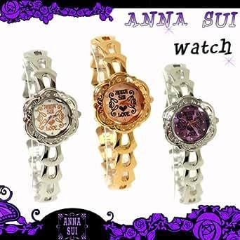 """【即日発送/】 <BR>Anna Sui アナスイ 腕時計 時計 アクセサリー アナスイ """"ANNA LOVE"""" 腕時計 全3色 箱付きゴールド 並行輸入品"""