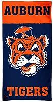 WinCraft Auburn University Tigersビーチタオル、レトロカレッジVault Edition withプレミアムSpectraグラフィックス、30x 60cm