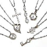 One&Only Jewellery 【特選福袋】 豪華7点セット 高品質 キュービックジルコニア ネックレス ペンダント K18GP