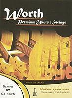 ワースストリングス Worth Strings フロロカーボン ウクレレ弦セット ブラウン テナー BT【NP】
