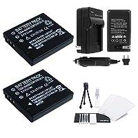 2- Pack dmw-bce10大容量交換用電池with急速旅行充電器Panasonicビデオカメラ。UltraProバンドルIncludes :カメラクリーニングキット、スクリーンプロテクター、ミニ旅行三脚