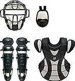 ZETT(ゼット) 野球 軟式 キャッチャー 防具4点セット BL316 ブラック/シルバー