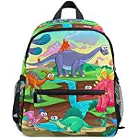 Mydaily Kids Backpack Funny Dinosaurs Cartoon Kids Nursery Bags for Preschool Children