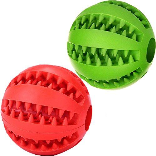 Q-Beau 犬 おもちゃ 犬 ボール 噛むおもちゃ 犬用 玩具ボール ラバー製 知育玩具 餌入れ ...