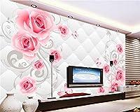 Sproud Papel De Parede 壁紙の上級インテリア装飾的な 3D の壁紙が非常に美しいローズステレオソフトケース Tv 背景 430 Cmx 300 Cm