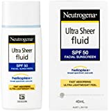 Neutrogena Ultra Sheer Fluid Sunscreen SPF50 40mL