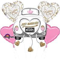 海外直輸入 カーズ 大人気 未発売 正規品 レア フィギュア フィギア 飛行機 クリスマス おもちゃ Just Married Wedding Car Mylar Foil Balloon Bouquet Set【JOY】
