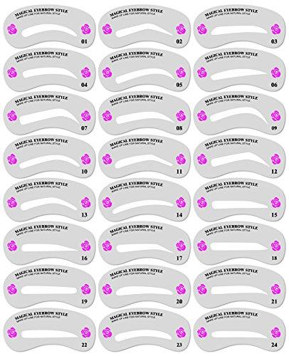 美眉 眉毛テンプレート 24枚セット 眉 メイクアップ ガイド 美容 理容 お手入れ PR-24EYEBROW