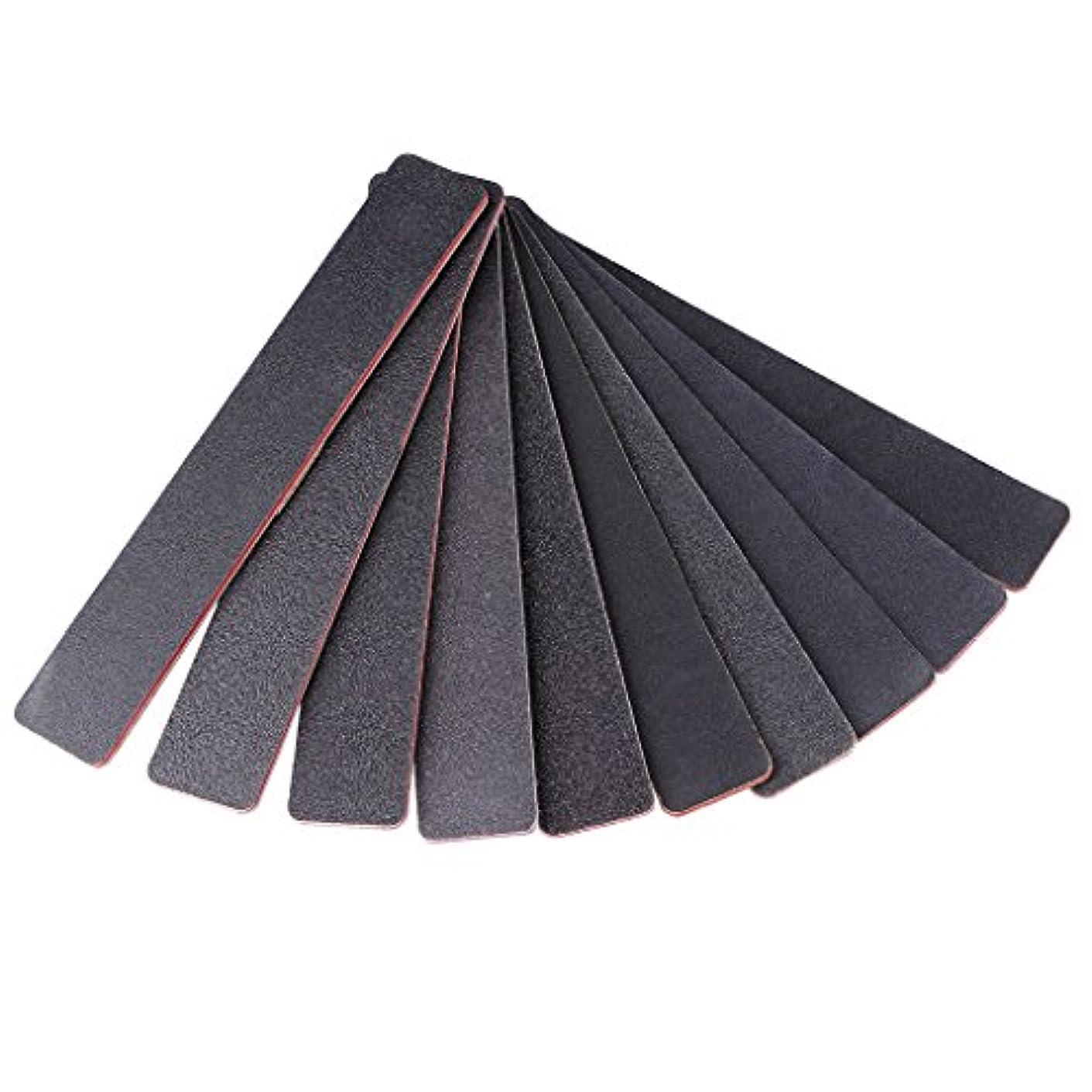 ジャッキー長方形の黒砂赤いハートネイルファイル1PCネイルファイルサンディング100/180スクエアダブルサイドネイルアートのヒントマニキュアツール