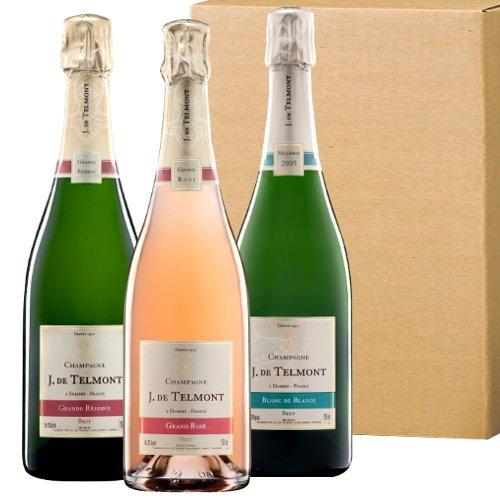 シャンパン飲み比べセット ジャック・ド・テルモン ロゼ ブリュット 2007年のブラン・ド・ブラン 750ml×3本