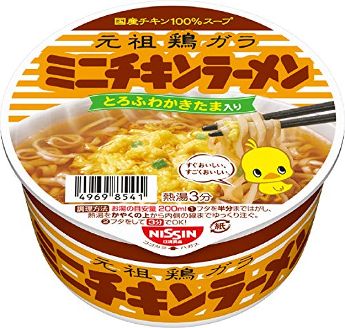 Nisshin chicken ramen bowl mini 38g × 12 pieces