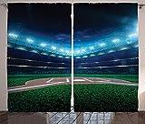 イエローとホワイト 部屋を暗くするカーテン 六角形パターン ハニカムハチの巣 シンプル 幾何学模様 モノクロ 遮光ドレープ グロメット 窓カーテン 寝室/リビングルーム用 2パネル イエローホワイト 104