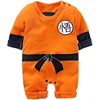 zywl Baby Dragon Ball Son Goku Costume Dress up Jumpsuit Romper Outfit Infant